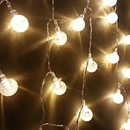 King Ro New 30LED Xmas Crystal Ball Decorative String Light(KL0044-RGB,White,Warm White)