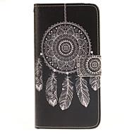 Na Samsung Galaxy Etui Etui na karty / Z podpórką / Flip / Wzór / Magnetyczne Kılıf Futerał Kılıf Łapacz snów Skóra PU SamsungA7(2016) /