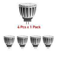 4 pcs GU4 4 W X SMD 2835 300 LM 3000K K Warm White MR11 Spot Lights DC 12/AC 12 V