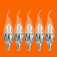 5 stk FSL e14 5 w 20 smd 3528 440 lm varm hvit c stearinlys pærer ac 220-240 v