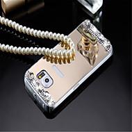 Mert Samsung Galaxy tok Galvanizálás / Tükör / Dombornyomott Case Hátlap Case Egyszínű Akril Samsung A8 / A7 / A5
