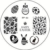 1szt Zajączek jajka Nail Art tłoczenia płyty szablonu obrazu