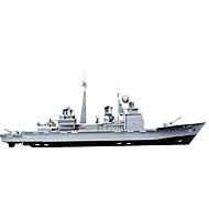 Jigsaw Puzzles 3D Puzzles Building Blocks DIY Toys Warship Paper Silver Model & Building Toy