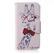 girafpatroon pu leer materiaal telefoon geval voor Samsung Galaxy J1 / j1ace / J2 / J3 / J5 / J7 / G360 / G530