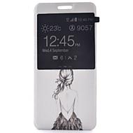 Voor Samsung Galaxy S7 Edge met venster / Flip hoesje Volledige behuizing hoesje Sexy dame PU-leer Samsung S7 plus / S7 edge / S7