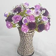 Gren Silke Plastikk Roser Bordblomst Kunstige blomster 13