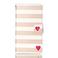 Για Samsung Galaxy S7 Edge Πορτοφόλι / Θήκη καρτών / με βάση στήριξης / Ανοιγόμενη tok Πλήρης κάλυψη tok Γραμμές / Κύματα Συνθετικό δέρμα