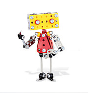 Jigsaw Puzzles 3D Puzzles / Metal Puzzles Building Blocks DIY Toys Robot 135pcs Metal Yellow / Silver / Red Model & Building Toy