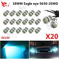 20 X ICE 12V 9W LED DRL Eagle Eye Light Car Auto Fog Daytime Reverse Signal