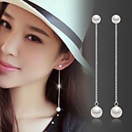 ドロップイヤリング 真珠 誕生石です. ファッション 真珠 純銀製 シルバー ジュエリー のために 結婚式 パーティー 日常 2 個