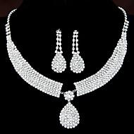 Damskie Zestawy biżuterii Kolczyki wiszące Naszyjniki z wisiorkami Rhinestone Ślubny Elegancki biżuteria kostiumowa Kryształ górski Stop