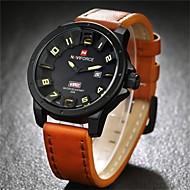 NAVIFORCE Muškarci Ručni satovi s mehanizmom za navijanje Kalendar Kvarc Japanski kvarc Koža Grupa Crna Smeđa