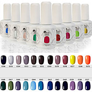 Newest Popular Top Fashion Non-toxic Soak-off UV & LED Resin Gel Polish (15ml,25-48 Colors)