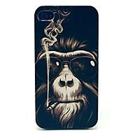 kinston® fumer motif de singe pu étui en cuir pour iphone 7 7 plus 6s 6 plus soi 5s 5c 5 4s 4
