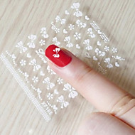 3D Glitter Powder Bowknot Nail Stickers