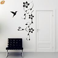 Romantik / Mode / Blumen Wand-Sticker Flugzeug-Wand Sticker,PVC M:42*100cm / L:55*130cm