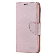 For Samsung Galaxy Case Card Holder / Wallet / with Stand / Flip Case Full Body Case Solid Color PU Leather Samsung S6 / S5