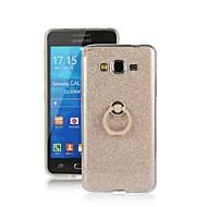 Mert Samsung Galaxy tok Tartó gyűrű Case Hátlap Case Csillámpor TPU Samsung Grand Prime