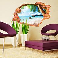 植物の / 風景画 ウォールステッカー 3D ウォールステッカー,PVC 60*90CM