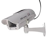 Outdoor / Indoor solarbetriebenen CCTV mit Flash-Dummy-Überwachungskamera gefälschte Nocken im Freien Dummy-IP-Kamera geführt,