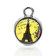 vilam® cabochon glass tid perle 1cm gjennomsiktige perler med tilfeldige bilder i det 3 stk
