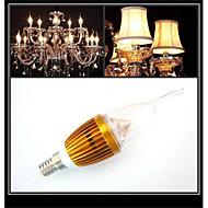 3W E14 LED-kaarslampen CA35 3 Krachtige LED 300-350 lm Warm wit / Koel wit Decoratief AC 220-240 V 1 stuks