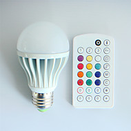 1pcs SchöneColors E26/E27 9W 550LM A60 Dimmable/Music-Controlled/Remote-Controlled/Decorative RGB LED Globe Bulb