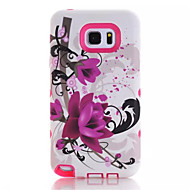 For Samsung Galaxy Note Shockproof / Pattern Case Back Cover Case Flower PC Samsung Note 5