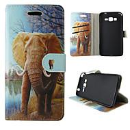 Για Samsung Galaxy Θήκη Θήκη καρτών / Πορτοφόλι / με βάση στήριξης / Ανοιγόμενη tok Πλήρης κάλυψη tok Ελέφαντας Συνθετικό δέρμα Samsung