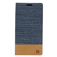 Varten Samsung Galaxy kotelo Korttikotelo / Tuella / Flip Etui Kokonaan peittävä Etui Linjat / aallot Tekonahka Samsung J5 (2016)