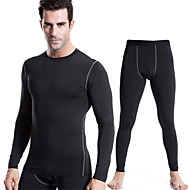 Running Compression Clothing / Tights / Pants Men's Long Sleeve Quick Dry / Compression / Sweat-wicking / smooth Polyester / ElastaneYoga