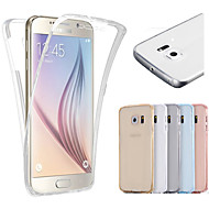 For Samsung Galaxy S7 Edge Transparent Etui Heldækkende Etui Helfarve TPU for Samsung S7 edge S7 S6 edge S6