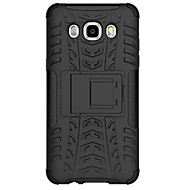 pc + siliconen schild staan ​​robuuste band case voor de Samsung Galaxy J7 (2016) / galaxy J5 (2016) anti shock behandelt geval shell