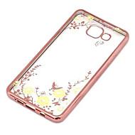 Secret Garden flower motýl diamant měkký TPU kryt pro Samsung Galaxy A5 / A7 / A8 / A9