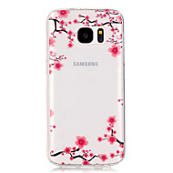 Pflaumenblüte patterntransparent weiche TPU Fall für Galaxie s7 Rand / Galaxie s7 / galaxy s6 Rand / Galaxie s6 / Galaxie s5