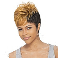 Popular Stylish Party Wig Mix Color Short Curly Synthetic Hair Wigs Cosplay Wigs