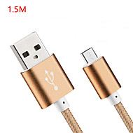 USB 2.0 Normal Nylon Kabel 150cmcm