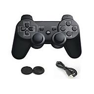 doble choque controlador de juego nuevo bluetooth inalámbrico + protector botón del joystick analógico para ps3