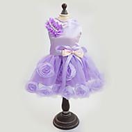 犬用品 ドレス パープル / ピンク 犬用ウェア 夏 / 春/秋 花/植物 ファッション / 結婚式 / 新年