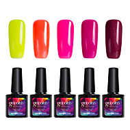 Modelones 5Pcs Beauty Nails Gelpolish 10ml UV Gel Nail Polish Shining Color Varnish Manicure Tool C108