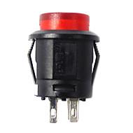 interruptor de botón coche jtron con la luz roja / azul llevado - (12v)