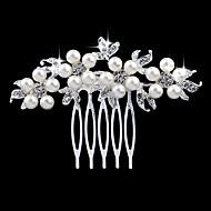 silver kristall pärla hår kammar för bröllopsfest dam smycken