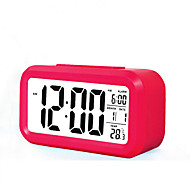 Large Screen LCD Electronic Clock Lazy Light Induction Snooze Alarm Clock Smart Alarm Clock(Assorted Color)