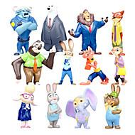 Mini 12 PCS furnishing articles dolls dolls anime peripheral city Judy zootopia crazy animals