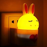 creativo caldo sensore di luce coniglio bianco di induzione suono relativo alla luce il bambino notte di sonno (colori assortiti)