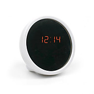 Creative Mute Table Clock Electronic Clock LED Clock Beauty Alarm Clock with Mirror(Assorted Color)
