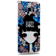 Relief Graphic Pattern Fashion Plastic Material Back Cover for Galaxy S6 Edge