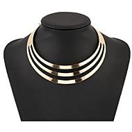 Dames Choker kettingen Verklaring Kettingen Sieraden Legering Modieus Europees Meerlaags Kostuum juwelen Sieraden Voor Feest Speciale