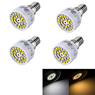 3W E14 LED-spotlampen R50 24 SMD 2835 240 lm Warm wit / Koel wit Decoratief AC 220-240 V 4 stuks
