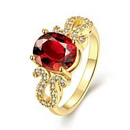 Βέρες Πετράδι Επιχρυσωμένο Oval Shape Μοντέρνα Κομψή Κόκκινο Κοσμήματα Γάμου Πάρτι Καθημερινά 1pc